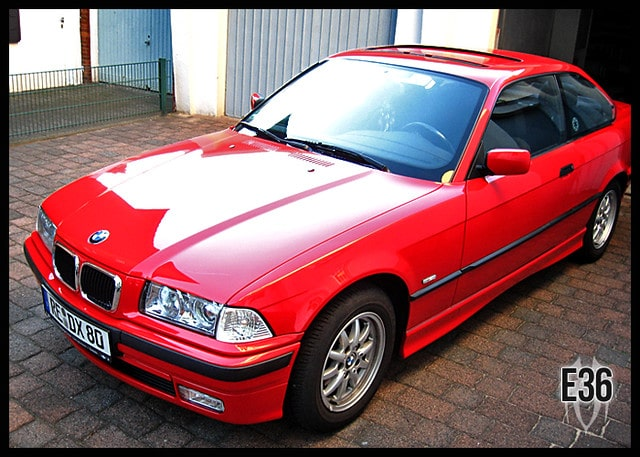 bmw e36 red review