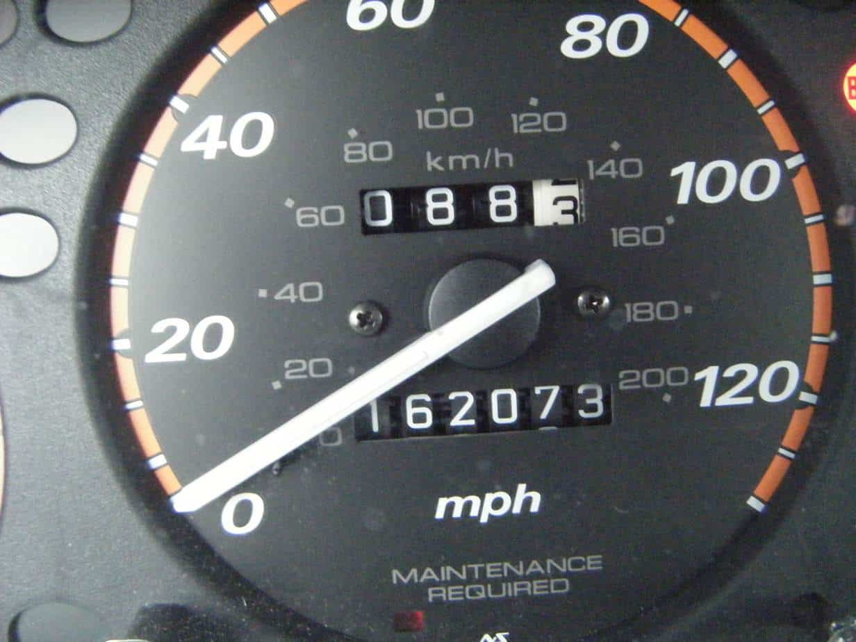 check the odometer on high mileage cars