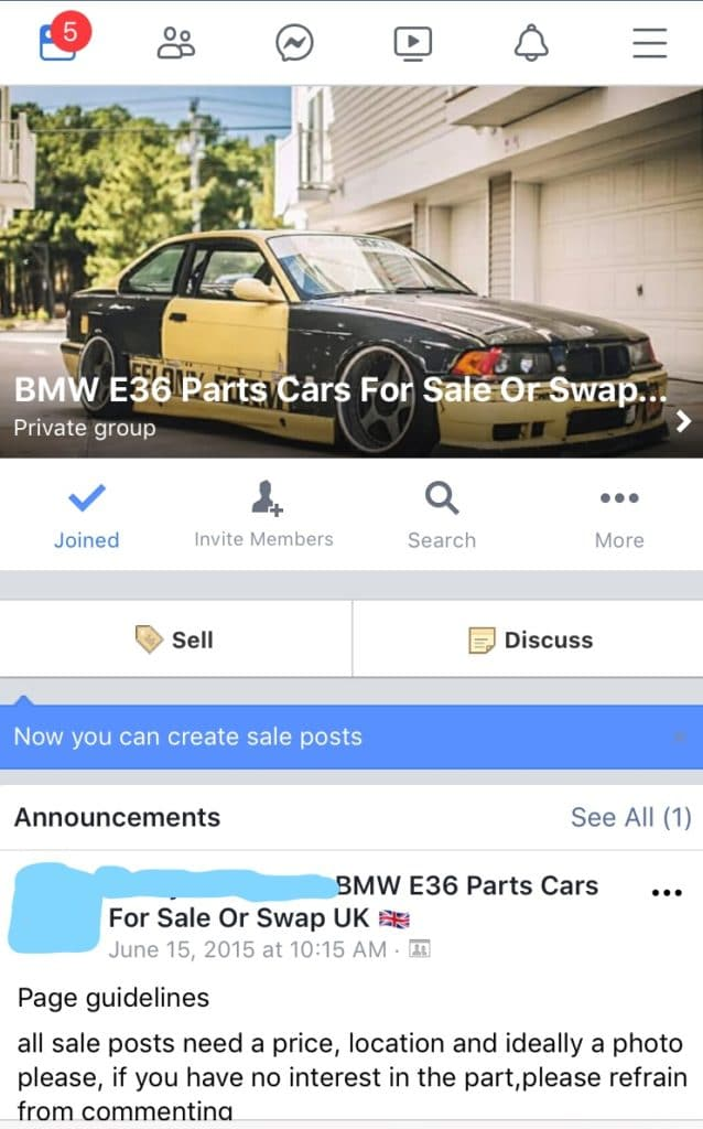 How to sell a car on a facebook marketplace group