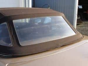 keeping your convertible top window in good shape